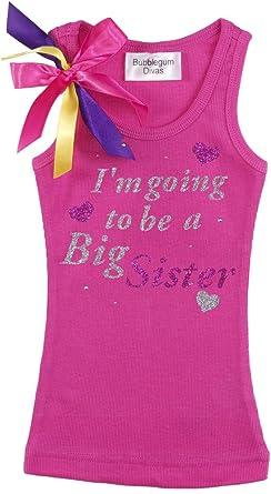 Bubblegum Divas Little Girls Little Sister Tank Top