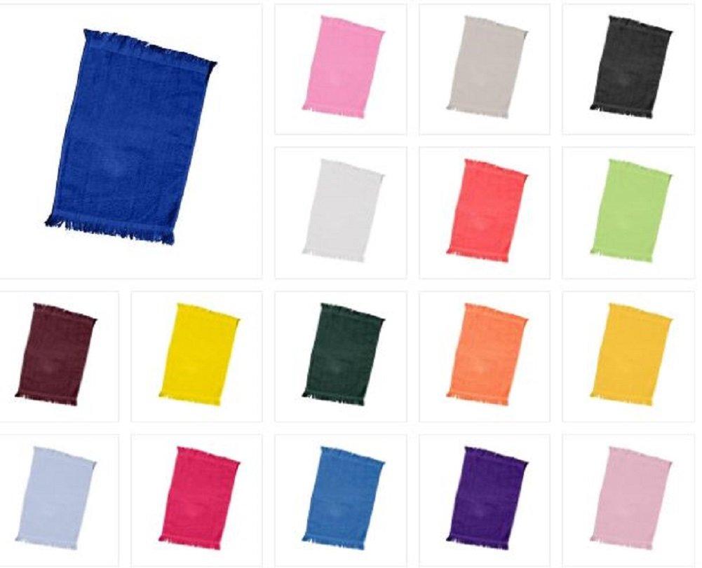 (12 Pack) 1 Dozen- Economical Fingertip Velour/terry Towels (Black) ToteBagFactory TBF_T100_12