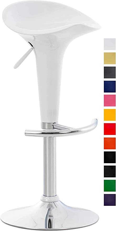 Leroy Merlin Sedie Plastica.Clp Sgabello Design Saddle In Plastica Sgabello Penisola Cucina