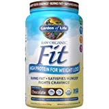 Garden of Life Raw Organic Fit Powder, Chocolate - High Protein for Weight Loss (28g) Plus Fiber, Probiotics & Svetol…