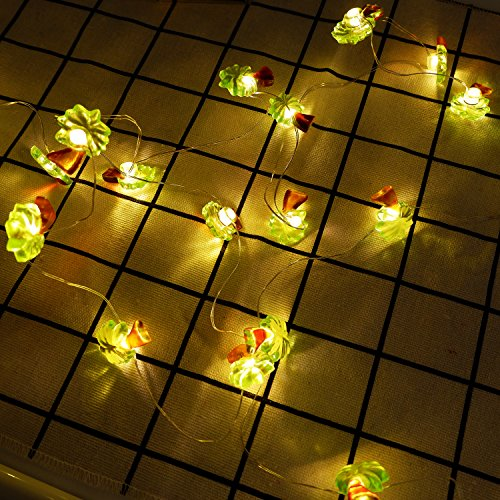 LED Decorative String Lights 6.6ft 20 Palm Trees Warm White LEDs Tropical Themed Fariy Strung Decoration Light for Birthday Bedroom Beach Wedding Parties -