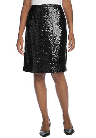 Jessica London Women's Plus Size Sequin Skirt at Amazon Women's ...