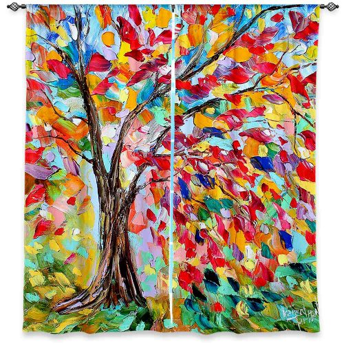 DiaNoche Designs Window Curtains, 80W x 61H in For Sale