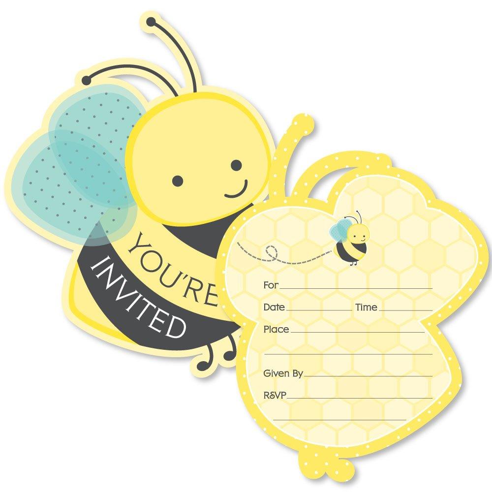 Amazon.com: Honey Bee – con forma de llenar invitaciones ...