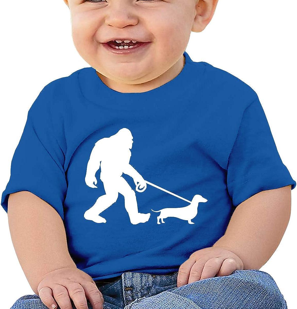 LLiYing-D Bigfoot Walking Dog 6-24 Months Baby Boys /& Girls Casual T-Shirts