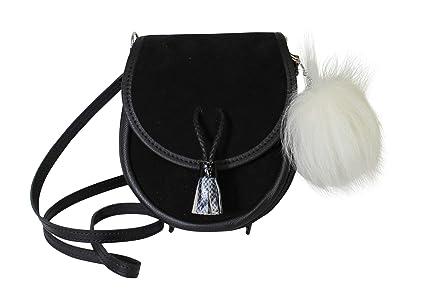 c8b1a93fdd1e Margaret Morrison Fabulous Scottish Black Leather Suede Traditional Sporran  Handbag
