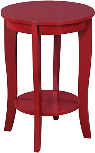 Convenience Concepts , Cranberry Red American Heritage Round End Table