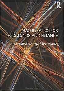 Mathematics For Economics And Finance Michael Harrison border=