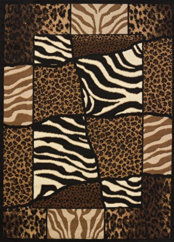 United Weavers of America Legends Collection African Montage Rug - 5ft. 3in. x 7ft. 2in Machine Made Olefin Rug with Jute Backing