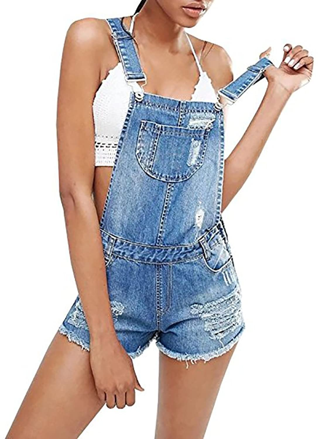 premium selection 681c2 be97a well-wreapped Lueyifs Damen Latzhose Denim Overall ...