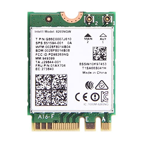 Dual Band Wireless- AC 8265 8265AC NGFF Wifi Card USE FOR Intel 8265 AC  AC8265 8265NGW M 2 NGFF 2 4/5GHz Bluetooth 4 2 Wireless WiFi Card 867 Mbps