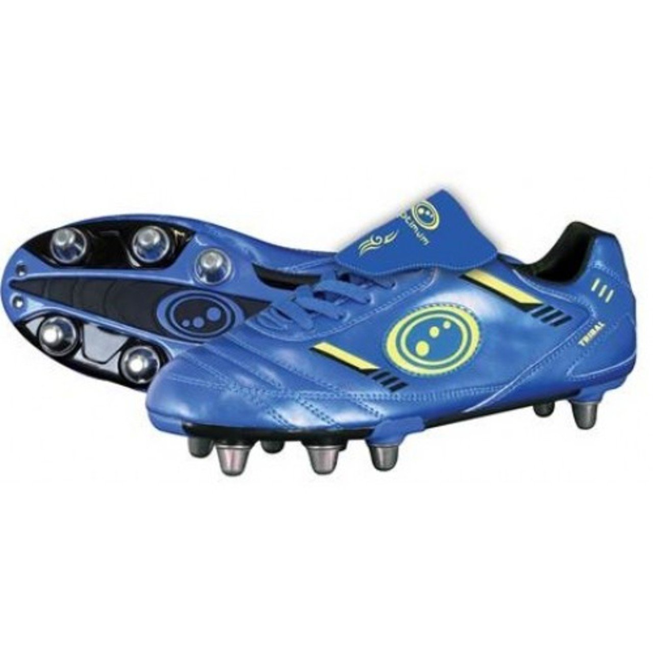 Optimum Tribal Rugby Boot 8 Stud Synthetic PU Upper Footwear Running Trainers