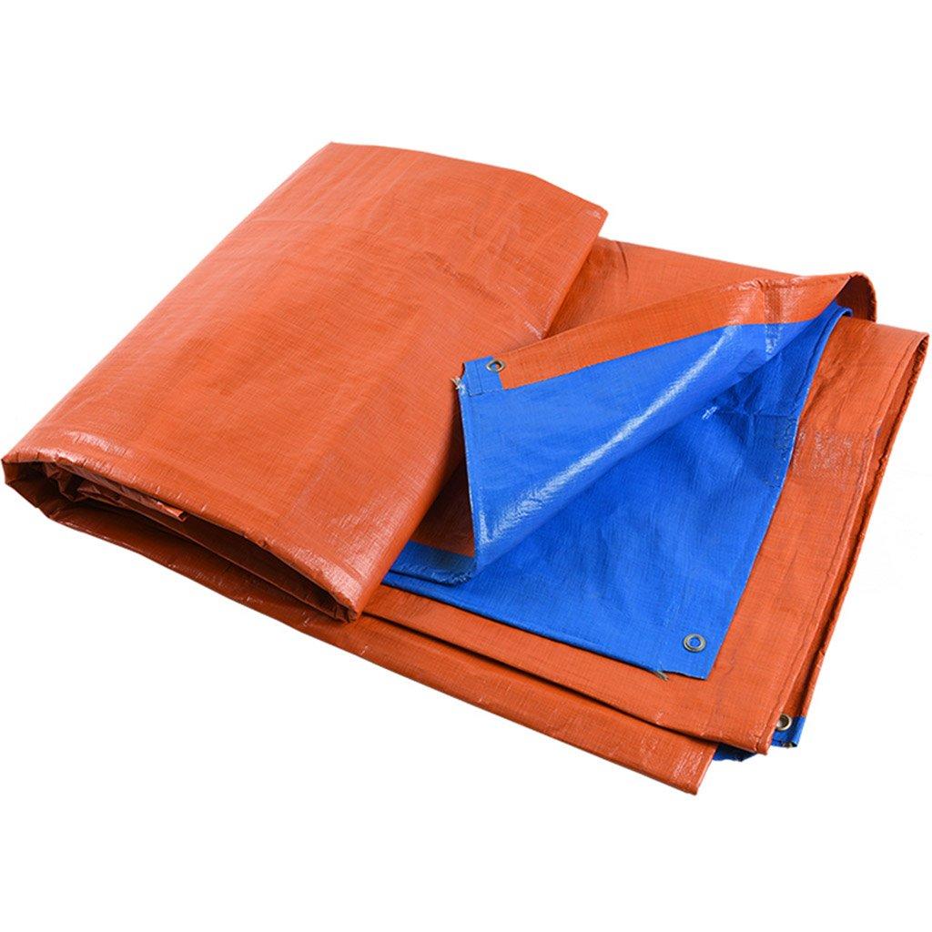 Plane PE-Kunststoff Blau-Orange Wasserdichtes Tuch Tuch Draussen Regendicht Sonnenschutz Schatten Tuch Tuch Autoplane Baldachin Tuch Regen Tuch 5cff05