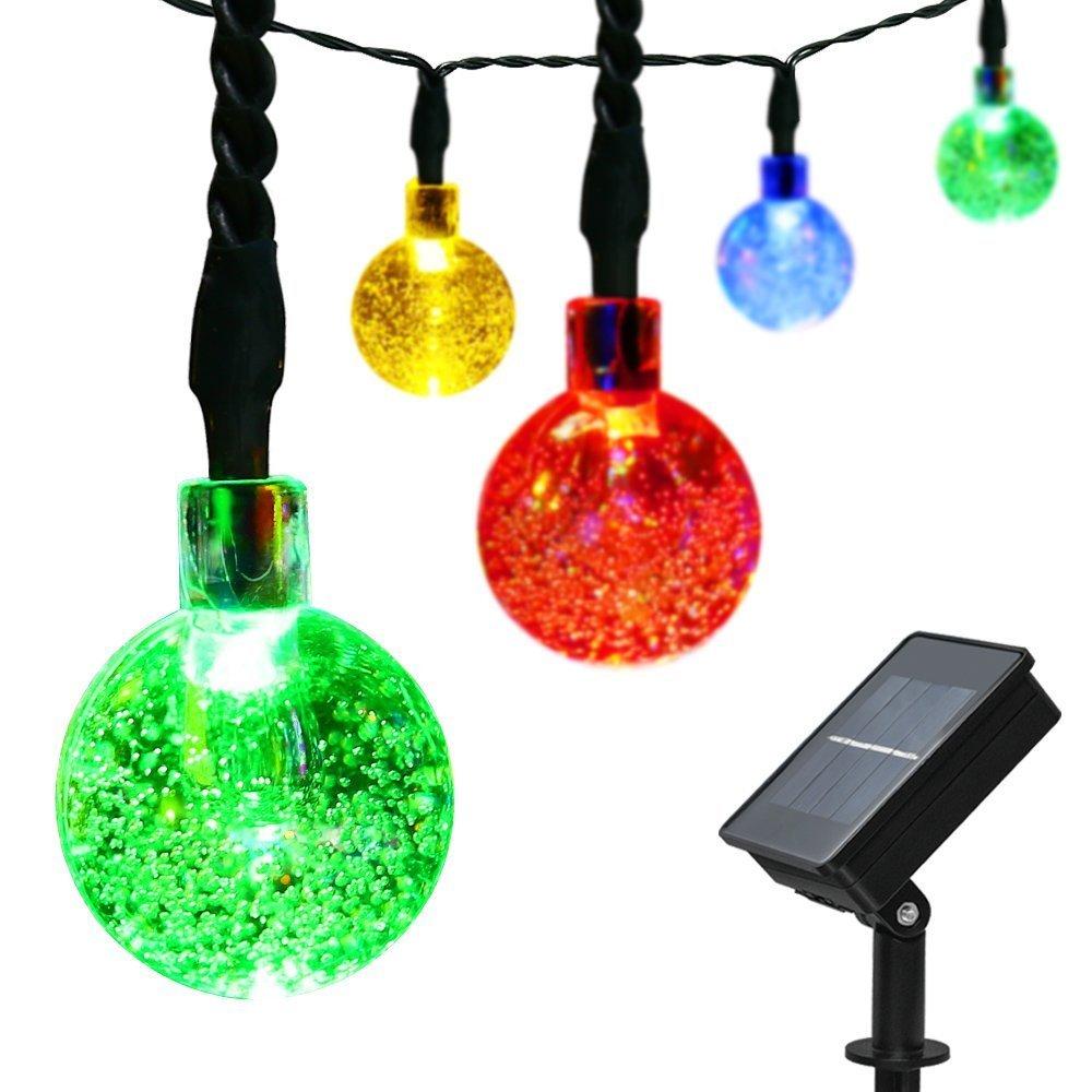 easyDecor 2 Packs Globe Solar String Lights 30 LED