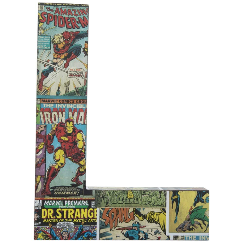 B Wood Letter Retro Comic Book Style for Wall or Tabletop 10 inch
