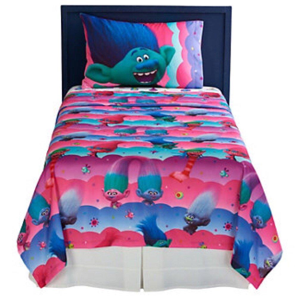DreamWorks Trolls Microfiber Sheet Set with Pillow Cases - Full
