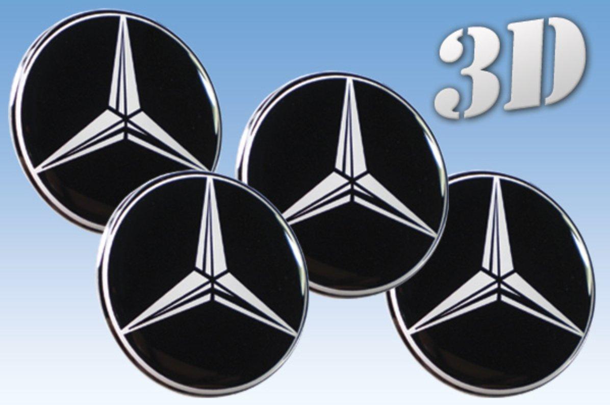 Wheel stickers Mercedes imitation all size Centre Cap Logo Badge Wheel Trims 3d (72mm.) Car decoration