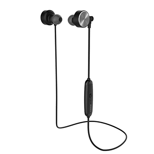 aukey bluetooth headphones in ear earbuds with magnetic clasp built in microphone and 4 hours. Black Bedroom Furniture Sets. Home Design Ideas