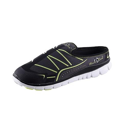 HSM Schuhmarketing - Mocasines de Material Sintético para Hombre Negro Negro: Amazon.es: Zapatos y complementos
