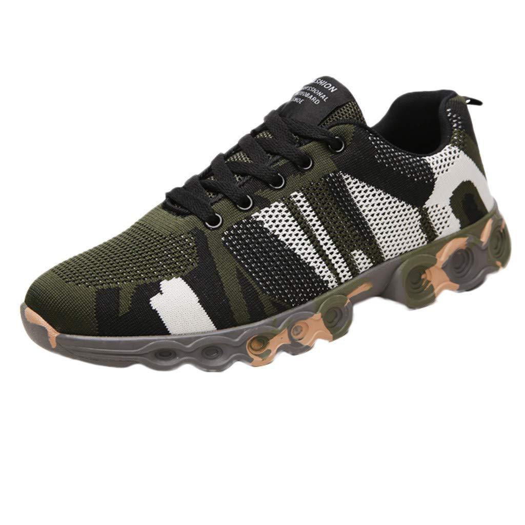Btruely Hombre Zapatillas de Deporte Planas de Camuflaje Zapatos para Correr Running Malla Transpirable Casuales Zapatillas Deportivas Montaña Hombre: ...