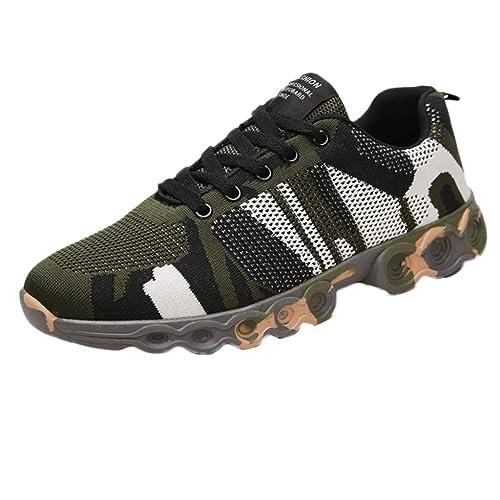 SCHOLIEBEN Zapatillas De Deporte Planas De Camuflaje De Ocio para Hombre Zapatillas Antideslizantes Transpirables: Amazon.es: Zapatos y complementos