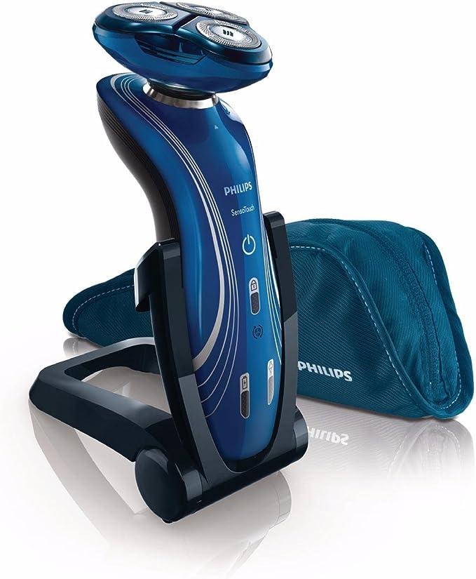 Philips SHAVER Series 7000 SensoTouch RQ1155/32 - Afeitadora (SkinGlide, Azul, Batería, Li-Ion, 1 h, 3 min): Amazon.es: Salud y cuidado personal