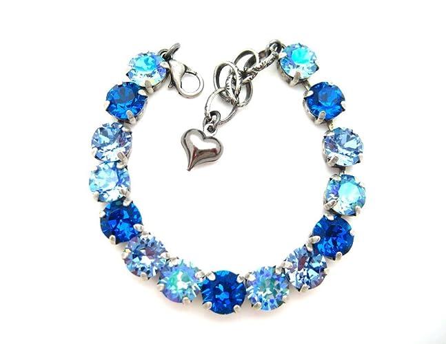 c0e419871 Image Unavailable. Image not available for. Color: Swarovski Crystal  Bracelet Aqua Glacier Blue ...