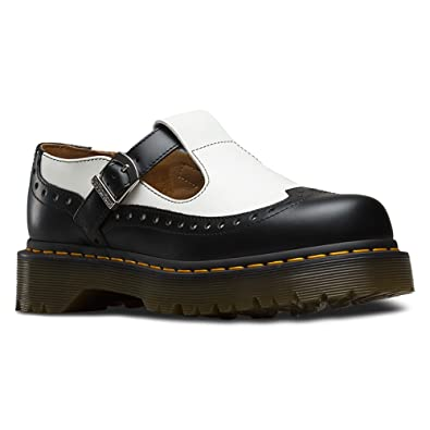 Dr. Martens Polley PW Black Virginia, Mary Janes Femme, Noir (Black), 38 EU