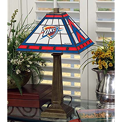Image of Desk Lamps NBA Oklahoma City Thunder 23in Mission Lamp, One Size, Multicolor