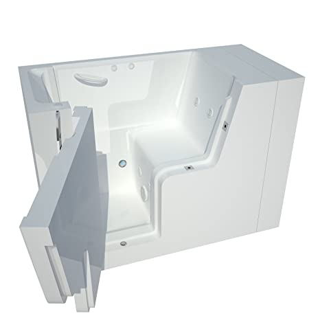 Meditub MT2953WCALWH Wheelchair Accessible 29 By 53 By 42 Inch Hydrotherapy  Walk In Bathtub Spa