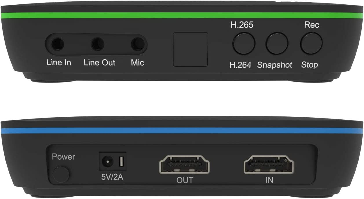 Live commentary. No PC Required Standalone 4K H.265 HDMI Video and Gaming Recorder Ultra-low latency ClonerAlliance UHD Lite Playback instantly