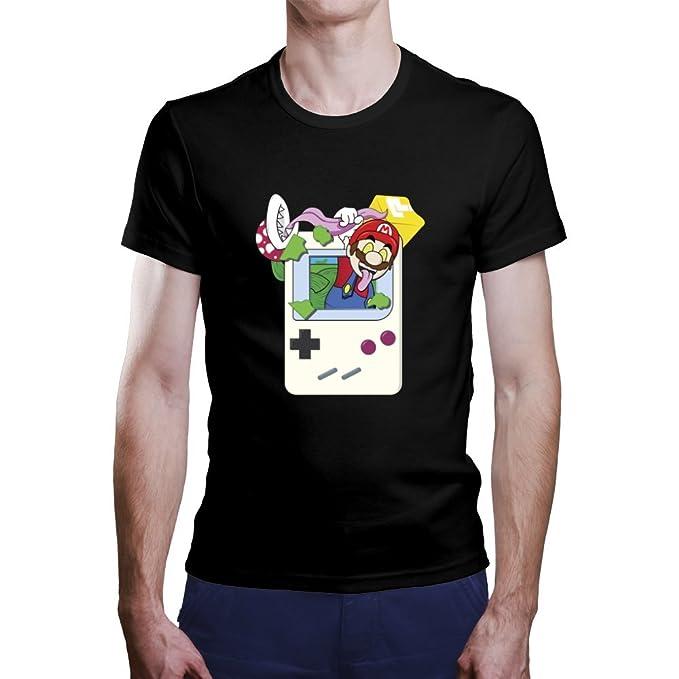 OKAPY Camiseta Super Mario. Una Camiseta de Hombre con Super Mario Saliendo de una Gameboy