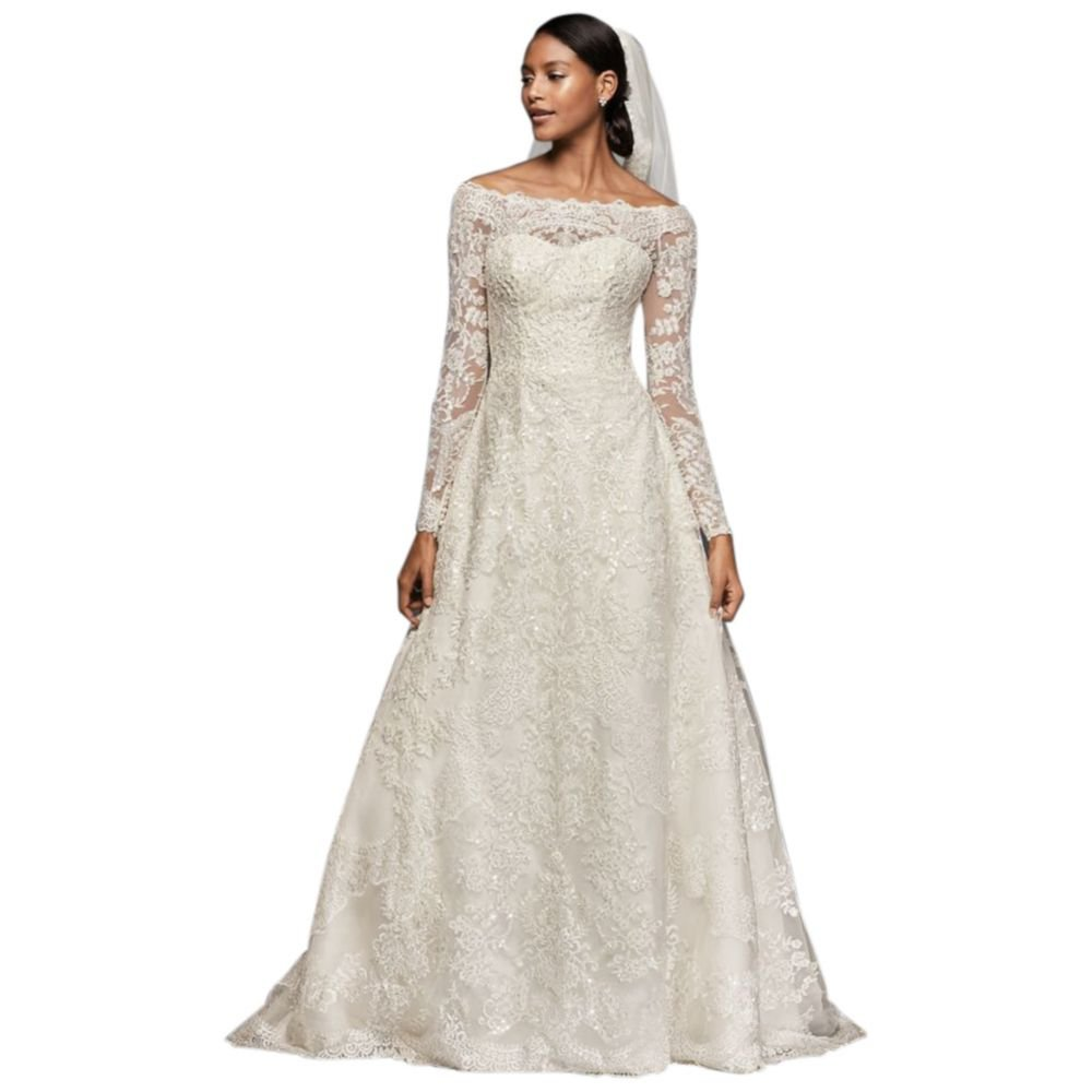 Sample As Is Off The Shoulder Lace A Line Wedding Dress Style