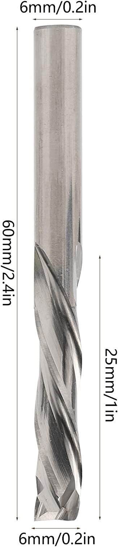 Cortador de fresado de aluminio de acero de tungsteno de 3 flautas herramienta CNC de mango redondo 6x6x25x60mm