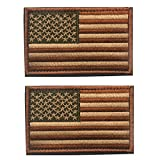2 pieces Tactical USA Flag Patch -Subdued Tan- American Flag Embroidered ...