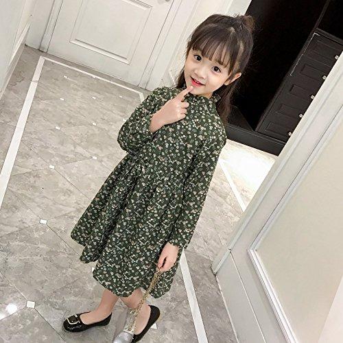 XIU*RONG Las Niñas Visten Vestido green