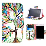 For Galaxy S4 Case , PpIiNnKk Fresh Green Tree and Leaf Style PU Leather Flip Flap Closure Kickstand Magnetic Wallet Case Cover for Samsung Galaxy S4 SIV i9500