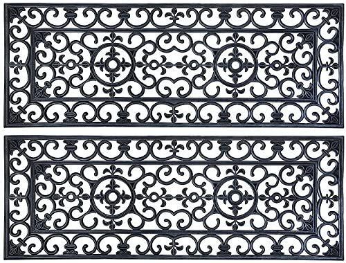 Esschert Design Rubber Long Doormat Pack of 2