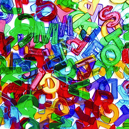 Colorations Plastic Translucent Multi-Color Uppercase Letters, 3/4