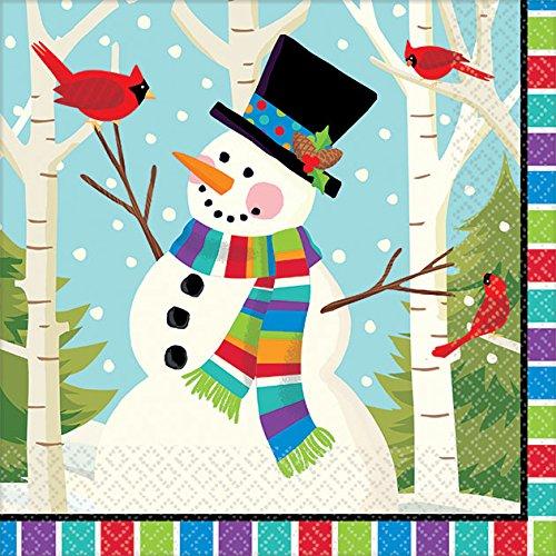Smiling Snowman Beverage Napkins, Pack of (Snowman Beverage)