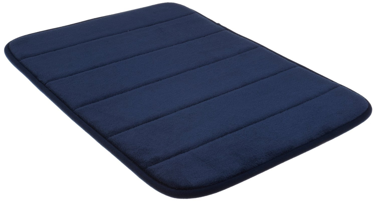 Incredibly Soft and Absorbent Memory Foam Bath Mat, 20 By 30-inch, Navy Blue by WPM