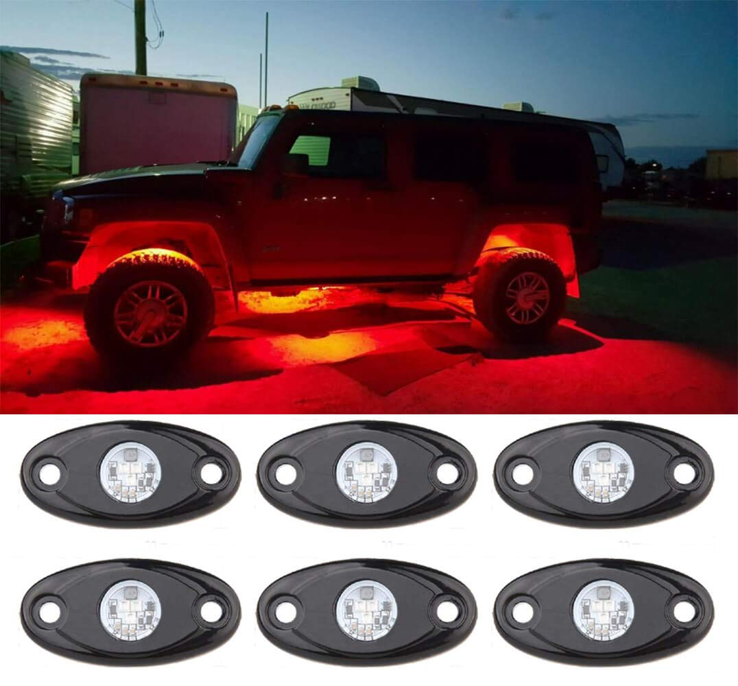 Super Bright Rock Light Kits with 6 Pods Lights Under Vehicle Cars Interior and Exterior 4X4 Trucks Car ATV SUV Jeep Boat 4wd ATV Motorcycle Green KOYA