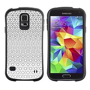 Suave TPU GEL Carcasa Funda Silicona Blando Estuche Caso de protección (para) Samsung Galaxy S5 / CECELL Phone case / / Geometrical Pattern Grey White Continuous /