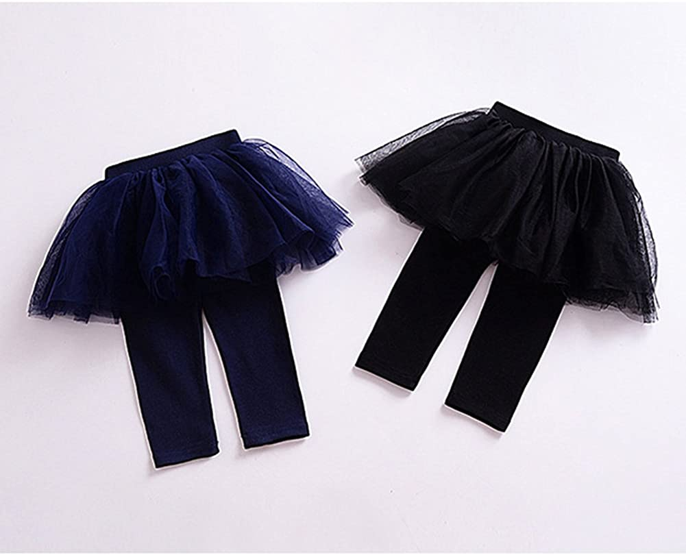 YOHA Baby Girls Tulle Tutu Pants Culotte Autumn Toddler Bottom Leggings Dress