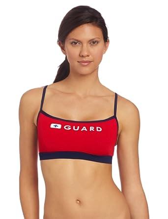 Speedo Womens Guard Thin Strap Top - Endurance Lite Red XS & Sunscreen