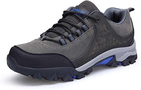 Groundwork Mens Lightweight Walking Hiking Trekking Shoes Trainers Breathable Low Rise Outdoor Boots Soft Flexible Running Shoes Comfortable Ideal for All Seasons