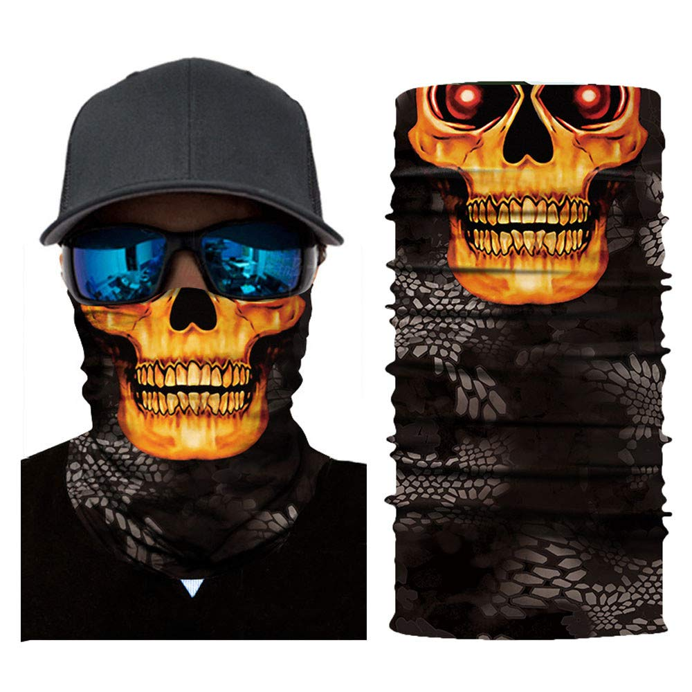Unique Riding Mask Cycling Motorcycle Neck Tube Ski Scarf Face Mask (C)