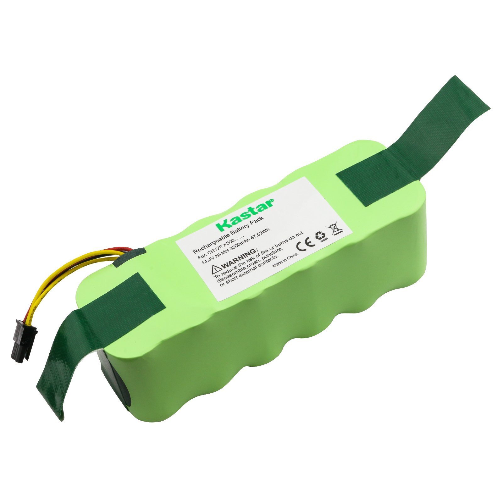 Kastar CR120 Battery (1 Pack), Ni-MH 14.4V 3300mAh, Replacement for Deebot CR120, KK-8, ECOVACS X500, LP43SC2000P