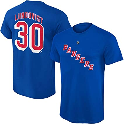 65e4264b3 Outerstuff Henrik Lundqvist New York Rangers  30 NHL Youth Player T-Shirt ( Youth
