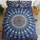 Bed Bigger Than California King AILOVYO Bohemia Mandala Bedding Duvet Cover Set with Zipper - 3 Piece (1 Duvet Cover + 2 Pillow Shams) Cotton Comforter Cover Set - California King